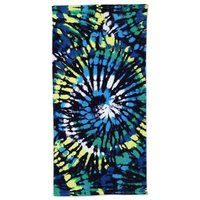 Swirl Tie Dye Beach Towel, Kids, Size: Little Kid/Big Kid, Blue, Cotton, by Lands' End