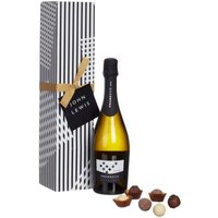 John Lewis & Partners Single Prosecco and Chocolates Gift Box
