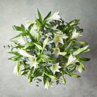 Longiflorum Lilies Bouquet White