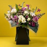 Pink Rose & Carnation Gift Bag Pink