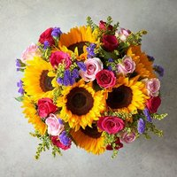 Large Foundation Fiesta Sunflower Bouquet Vibrant