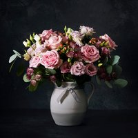 Premium Flower Garden Rose Jug Pastel