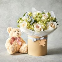 New Baby Scented Rose Gift Set White