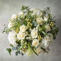 Premium Flower Garden Bouquet White