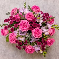 Rose & Scented Freesia Bouquet Pink