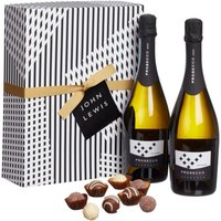 John Lewis & Partners Double Prosecco and Chocolates Gift Box