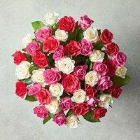 Medium Mixed Sweetheart Roses Pink