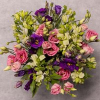 Alstroemeria & Lisianthus Bouquet Vibrant