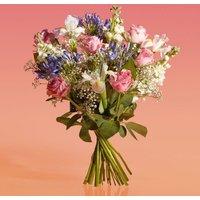 Roses & Agapanthus Bouquet Purple, lilac or blue