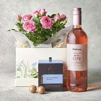 Pink Rose Gift Set Pink