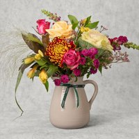 Rose & Sunflower Jug Vibrant