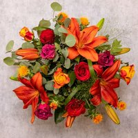 Autumn Sunset Bouquet Vibrant