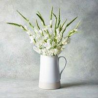 British Gladioli Jug White