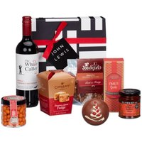 John Lewis & Partners Red Wine and Nibbles Christmas Hamper