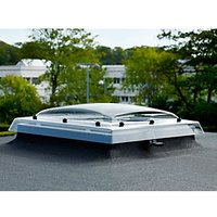 VELUX Clear Polycarbonate Flat Roof Dome - 1000 x 1000mm