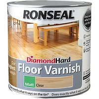 Ronseal Diamond Hard Floor Varnish Clear Matt 2.5L