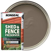 Ronseal Shed and Fence Preserver - Light Brown 5L
