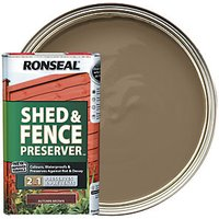 Ronseal Shed and Fence Preserver - Autumn Brown 5L