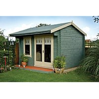 Shire Marlborough 14 x 10ft Large Double Door Garden Summer House with Canopy