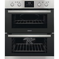 Zanussi Built Under Double Stainless Steel Electric Oven ZOF35802XK