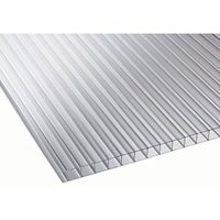 10mm Clear Multiwall Polycarbonate Sheet - 2500 x 1050mm