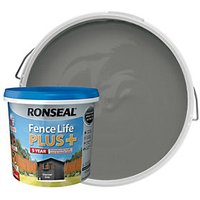 Ronseal Fence Life Plus Matt Shed & Fence Treatment - Charcoal Grey 5L