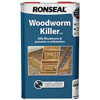 Ronseal Woodworm Killer - Clear 5L.