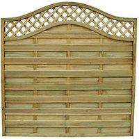 Forest Garden Pressure Treated Bristol Fence Panel - 6 x 6ft Pack of 4