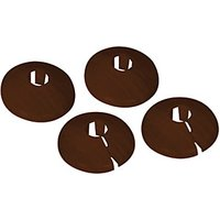 Vitrex PVC Pipe Surrounds Dark Oak - Pack of 4