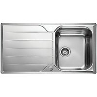 Leisure Albion 1 Bowl Reversible Inset Stainless Steel Kitchen Sink.