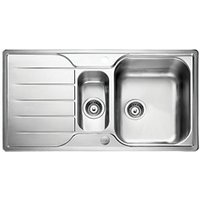 Leisure Albion 1.5 Bowl Reversible Stainless Steel Kitchen Sink.