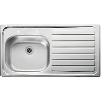 Lexin 1 Bowl Right Hand Drainer Stainless Steel Kitchen Sink.