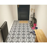 Wickes Melia Charcoal Patterned Ceramic Wall & Floor Tile - 200 x 200mm.