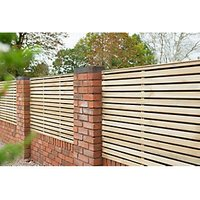 Forest Garden Double Slatted Fence Panel 6 x 3ft 4 Pack
