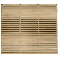 Forest Garden Double Slatted Fence Panel 6 x 5 ft 4 Pack