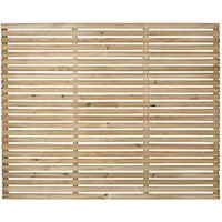 Forest Garden Single Slatted Fence Panel 6 x 5 ft 3 Pack