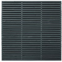 Forest Garden Double Slatted Grey Fence Panel 6 x 6 ft 5 Pack