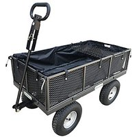 The Handy THDLGT Large Garden Trolley with Liner and Tool Tray