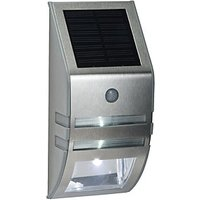 Saxby Willow Polished Stainless Steel   Clear Solar Wall Light