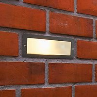 Saxby Gecko Textured Black and Frosted Glass Brick Light