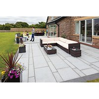 Marshalls Granite Eclipse Textured Light Grey Paving Slab Mixed Size - 17.9 m2 pack