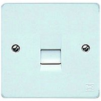 MK Single Slave Telephone Socket - White