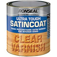Ronseal Ultra Tough Satincoat Varnish - Satin Clear 2.5L