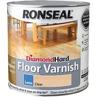 Ronseal Diamond Hard Floor Varnish - Clear Satin 2.5L