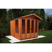Shire Parham 7 x 7ft Double Door Apex Dip Treated Summer House