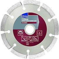 Wickes Mortar Raking Wet & Dry Cutting Diamond Blade - 115mm.