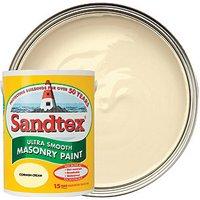 Sandtex Ultra Smooth Masonry Paint - Cornish Cream 5L