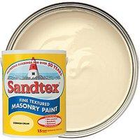 Sandtex Fine Textured Masonry Paint - Cornish Cream 5L