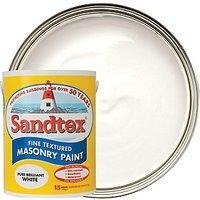 Sandtex Fine Textured Masonry Paint - Pure Brilliant White 5L