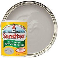 Sandtex Ultra Smooth Masonry Paint - Plymouth Grey 5L